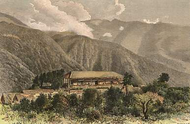 Eine alte Hacienda in Bolivien - Foto: antique-prints.de