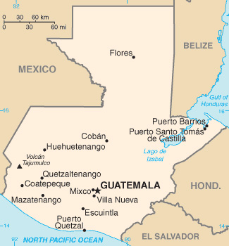 Guatemala (Karte: University of Texas at Austin)