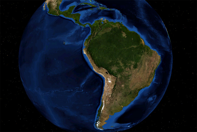 Lateinamerika - Foto: NASA Worldwind Blue Marble