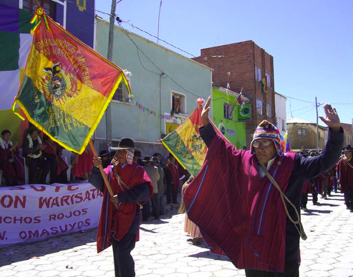 Bolivien: Bild von einer Demonstration, Foto: Quetzal-Redaktion, mp